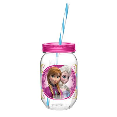 Zak! Designs® Disney® Frozen Elsa & Anna 19 oz. Mason Jar Tumbler with Straw