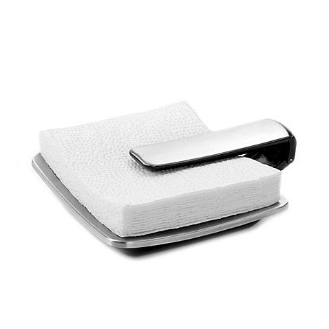 Buy oxo good grips simply pull napkin holder from bed for Bathroom napkin holder