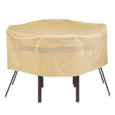 Round Table and Chair Patio Cover