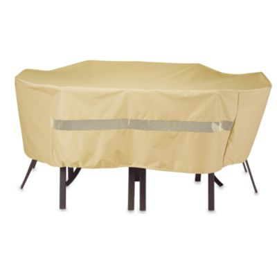 Rectangle Table and Chair Patio Cover