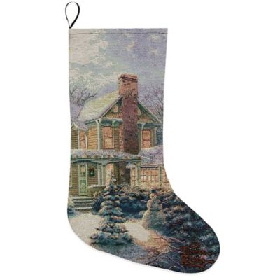 Victorian Christmas III Tapestry Holiday Stocking