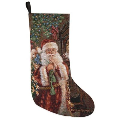 Santa Was Stirring Tapestry Holiday Stocking