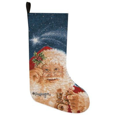 Merry Christmas Santa Tapestry Holiday Stocking