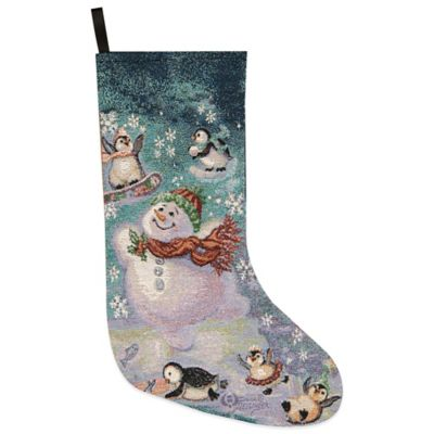 Blizzard Buddies Tapestry Holiday Stocking