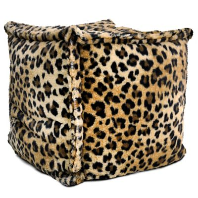 Brown Leopard Faux Fur Decor