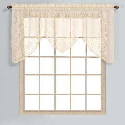 Windsor36-Inch Lace Window Valance in Natural
