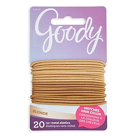 goody colour collection 20 pack elastics in blonde