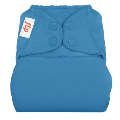Flip™ Diaper Cover with Snap Closure in Moonbeam