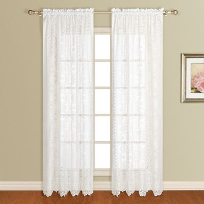 New Rochelle 63-Inch Lace Window Panel in Natural