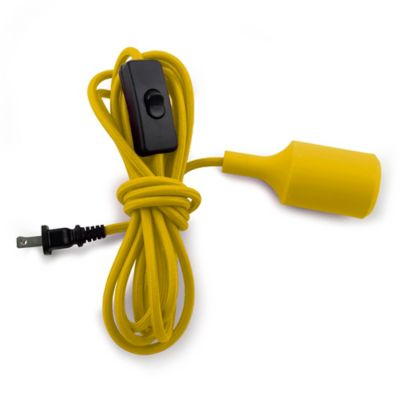 Kikkerland® Pendant Cord Lamp in Yellow