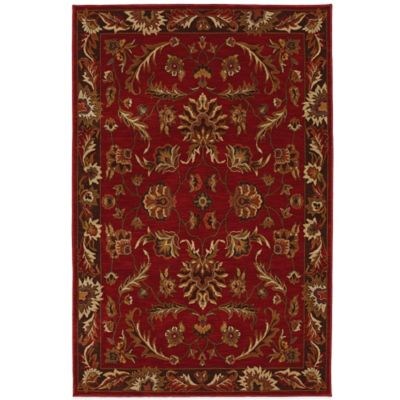 Karastan Knightsen Walnut Park 2-Foot 4-Inch x 8-Foot 3-Inch Runner in Red