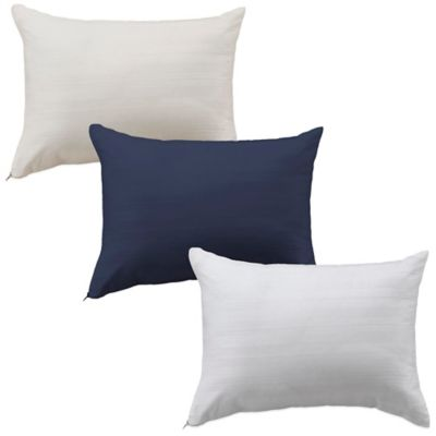 Bedding Essentials™ Cotton Travel Pillow Protector in Navy