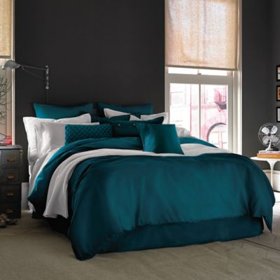 Kenneth Cole Reaction Home Mineral Full/Queen Duvet Cover in Teal