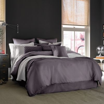 Kenneth Cole Reaction Home Mineral Full/Queen Duvet Cover in Deep Orchid
