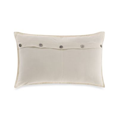 Kenneth Cole Reaction Home Mineral Button Oblong Throw Pillow in Olive