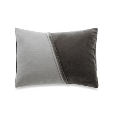 Vera Wang™ Night Blooms Two-Toned Velvet Oblong Throw Pillow