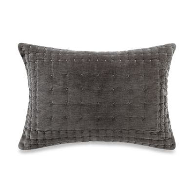 Vera Wang™ Night Blooms Quilted Velvet Breakfast Throw Pillow