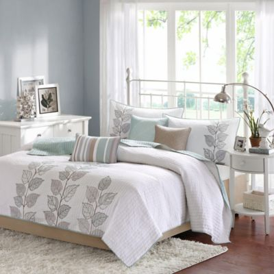 Madison Park Caelie Reversible Queen Coverlet Set in Blue