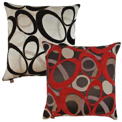 Sherry Kline Oh Square Throw Pillow in Graphite