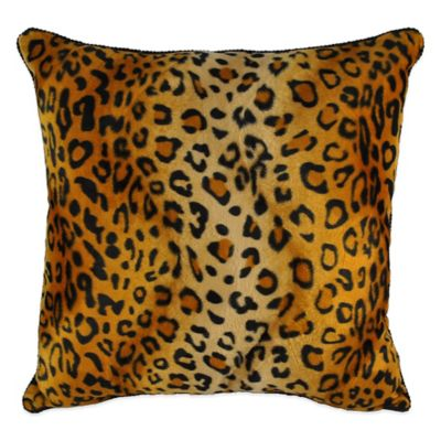 Sherry Kline Cheetah Square Throw Pillow