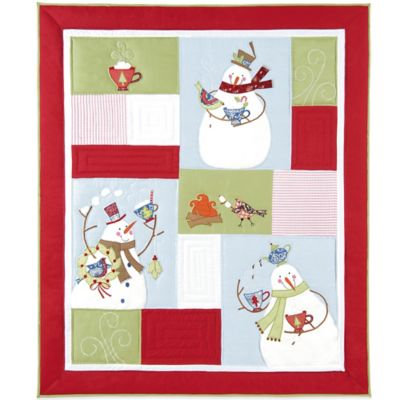 Holiday Toasty Wishes Quilted Throw Blanket
