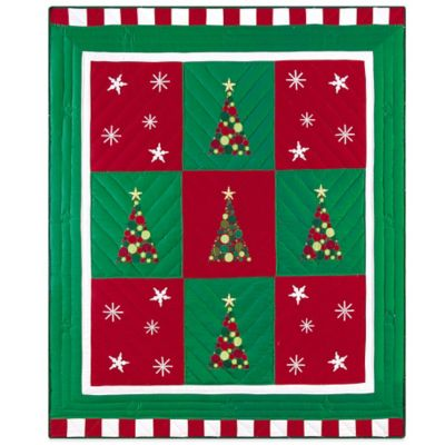 Holiday Dazzle Quilted Throw Blanket