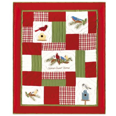 Holiday Feathered Quilted Throw Blanket