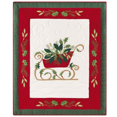 Holiday Through the Woods Quilted Throw Blanket