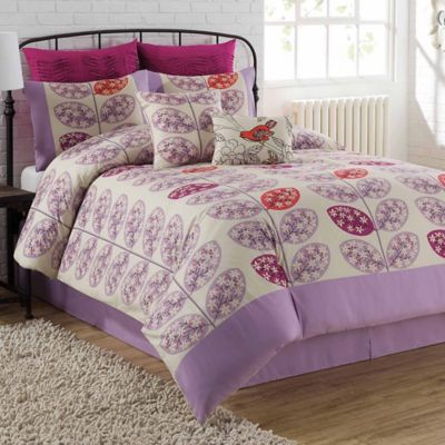 Lucia 8-Piece Queen Comforter Set