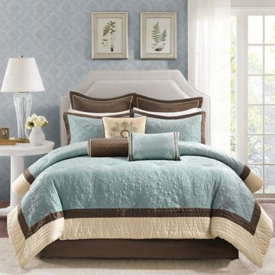 Madison Park Juliana 9-Piece Queen Comforter Set in Blue