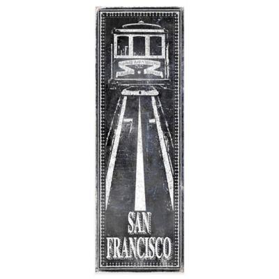 "Chalkboard ""San Francisco"" Cable Car Wall Décor"