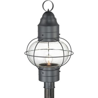 Quoizel Cooper Outdoor Medium Post Lantern in Mystic Black