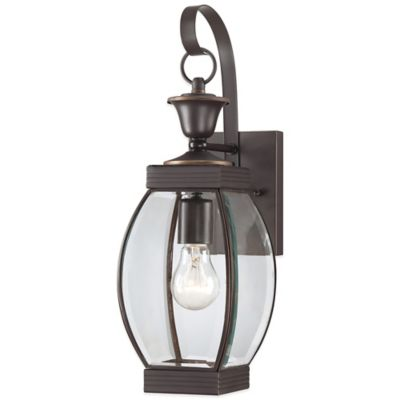 Quoizel Oasis Outdoor Small Wall Lantern in Medici Bronze