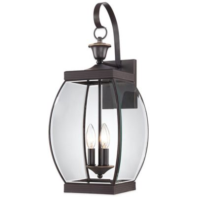 Quoizel Oasis Outdoor Large Wall Lantern in Medici Bronze
