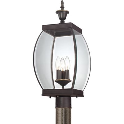 Quoizel Oasis Outdoor Large Post Lantern in Medici Bronze