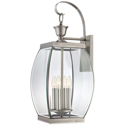 Quoizel Oasis Outdoor Large 4-Light Wall Lantern in Pewter