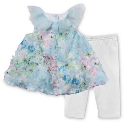 Pippa & Julie™ Size 6M 2-Piece Floral Bubble Tunic and Legging Set