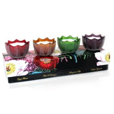 DL & Co Floral Mini Scallop Candle (Set of 4)