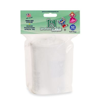 Princesses & Pirates Go Potty Too 50-Count Disposable Refill Bags