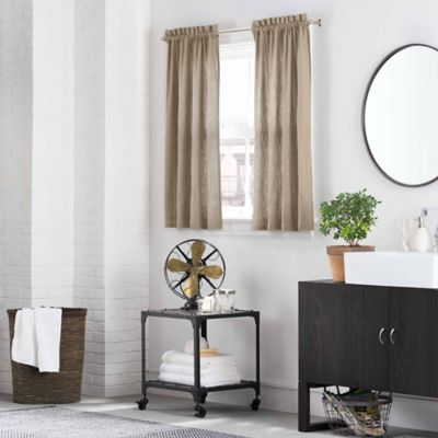 Kenneth Cole Reaction Home Mineral Window Curtain Tier Pair in Oatmeal