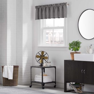 Kenneth Cole Reaction Home Mineral Tailored Valance in Indigo