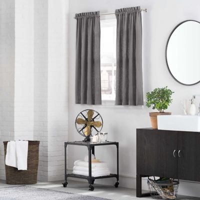 Kenneth Cole Reaction Home Mineral Window Curtain Tier Pair in Gunmetal
