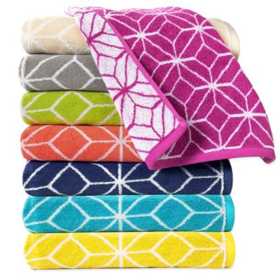 Trina Turk® Trellis Bath Towel in Marine Blue