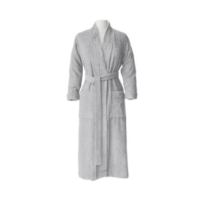 Nine Space Women's Small/Medium Pleated All-Cotton Bathrobe in Marine Blue
