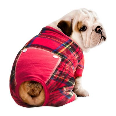 Pawslife™ Size Small Plaid Pet Pajamas in Red