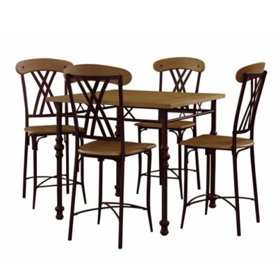 Powell Cowell 5-Piece Gathering Dining Set