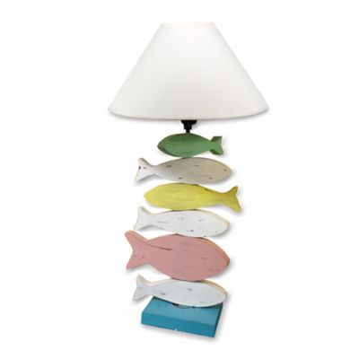 Fish Multicolored Table Lamp