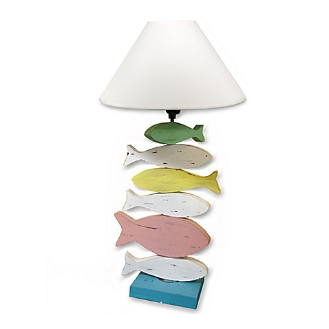 Fish multicolored table lamp for Closest fish store