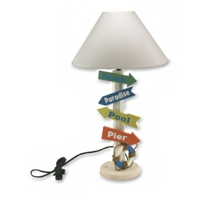 Nautical Signs Multicolored Table Lamp