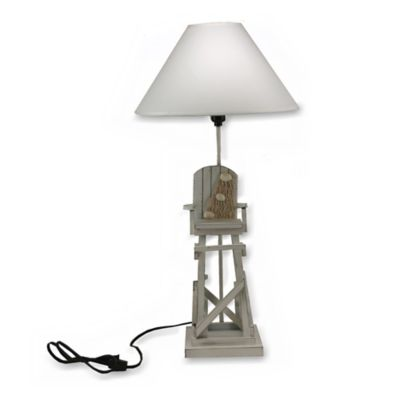 Lifeguard Chair Table Lamp in Grey